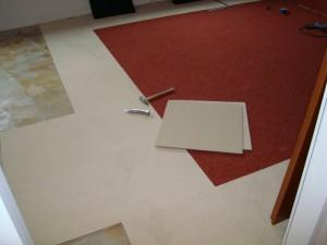 Teppichfliesen als Bodenbelag
